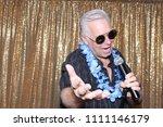 a man sings a song. a man sings ...   Shutterstock . vector #1111146179