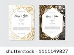 gold vintage greeting card on a ... | Shutterstock .eps vector #1111149827