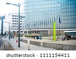 Small photo of BRUSSELS, BELGIUM - August 5, 2017 : European Commission in Brussels, Belgium.European Union, responsible for proposing legislation, implementing decisions, BRUSSELS, BELGIUM