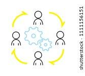 job rotation icon concept   Shutterstock .eps vector #1111156151