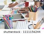 team of creative designers... | Shutterstock . vector #1111156244