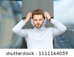 feeling casual. guy bearded... | Shutterstock . vector #1111164059