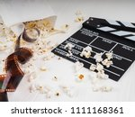 the film in the spiral  near... | Shutterstock . vector #1111168361