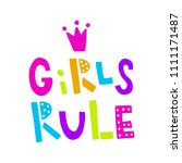 vector illustration  girls rule ... | Shutterstock .eps vector #1111171487