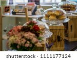 artisan food shop. local coffee ...   Shutterstock . vector #1111177124