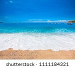 beach and beautiful tropical sea   Shutterstock . vector #1111184321
