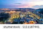 industrial view at oil refinery ... | Shutterstock . vector #1111187441