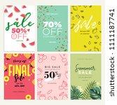 eye catching summer sale mobile ... | Shutterstock .eps vector #1111187741