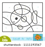 color by dots  education game... | Shutterstock .eps vector #1111193567