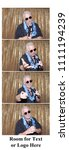 photo booth strips. a man poses ...   Shutterstock . vector #1111194239