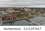 st augustine aerial view from... | Shutterstock . vector #1111197617