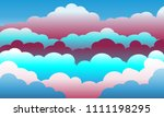 sky and clouds.sunset. isolated ... | Shutterstock .eps vector #1111198295