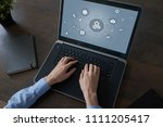 automation solution and...   Shutterstock . vector #1111205417