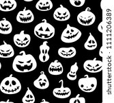 seamless pattern for halloween... | Shutterstock .eps vector #1111206389