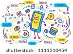 vector illustration of blue and ... | Shutterstock .eps vector #1111210454