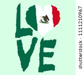 love mexico  america. vintage... | Shutterstock .eps vector #1111210967