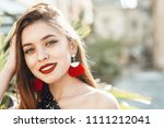 outdoor close up portrait of... | Shutterstock . vector #1111212041