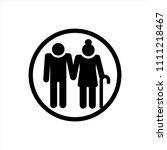 elderly people icon in trendy...