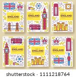 england brochure cards thin... | Shutterstock . vector #1111218764