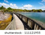 This image shows Kuirau Park, Rotorua, New Zealand - stock photo