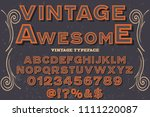 vintage font typeface vector... | Shutterstock .eps vector #1111220087