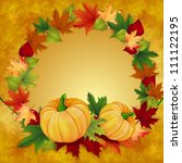 autumn background with leaves...   Shutterstock .eps vector #111122195