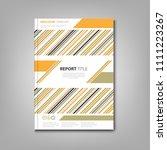 brochures book or flyer with...   Shutterstock .eps vector #1111223267