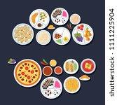 delicacy set circle...   Shutterstock . vector #1111225904