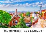 spain  barcelona. fantastic...   Shutterstock . vector #1111228205