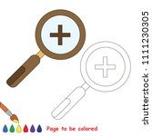zoom tool to be colored  the... | Shutterstock .eps vector #1111230305