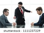 Small photo of angry boss fires an incompetent employee