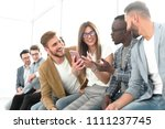 young people of different... | Shutterstock . vector #1111237745