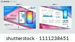 brochure template  flyer design ... | Shutterstock .eps vector #1111238651