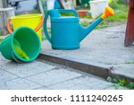 gardening on a country site in... | Shutterstock . vector #1111240265