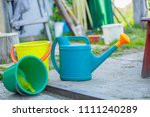 gardening on a country site in... | Shutterstock . vector #1111240289