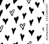 abstract monochrome hand drawn... | Shutterstock .eps vector #1111241147