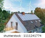 home electricity generation... | Shutterstock . vector #1111241774