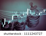 financial data in term of a... | Shutterstock . vector #1111243727