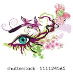 floral make up  with... | Shutterstock .eps vector #111124565
