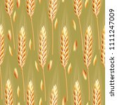 seamless pattern with ears of...   Shutterstock .eps vector #1111247009