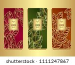 set template for package or... | Shutterstock .eps vector #1111247867