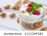 tasty natural and healthy... | Shutterstock . vector #1111249181