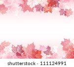 maple background | Shutterstock .eps vector #111124991