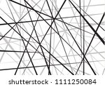 random chaotic lines abstract... | Shutterstock .eps vector #1111250084