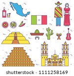 country mexico travel vacation... | Shutterstock . vector #1111258169