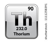 thorium symbol.chemical element ... | Shutterstock .eps vector #1111258391