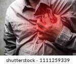 heart attack concept. man...   Shutterstock . vector #1111259339