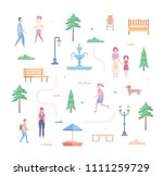 city park elements   set of... | Shutterstock . vector #1111259729