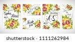 wedding floral template invite  ...   Shutterstock .eps vector #1111262984
