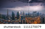 dubai dramatic panoramic view... | Shutterstock . vector #1111270079